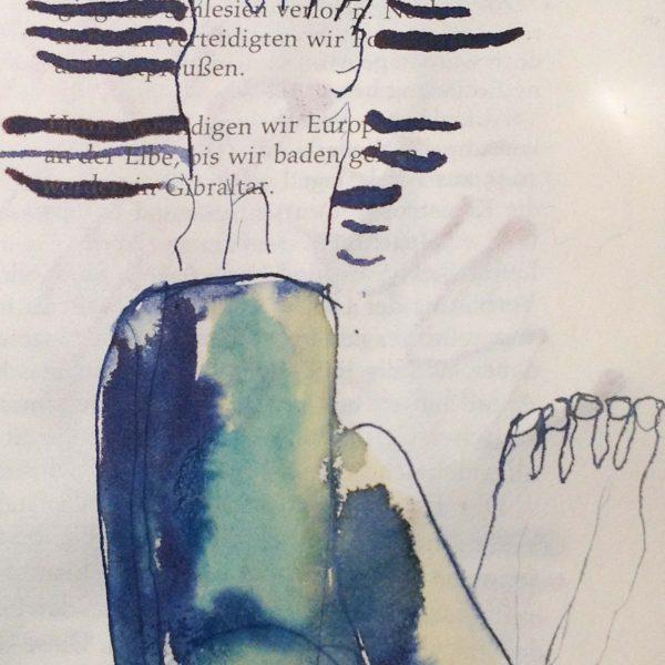 """Detail aus dem Buch """"Soldaten sind Mörder"""", je. Seite 21 x 11,5 cm"""